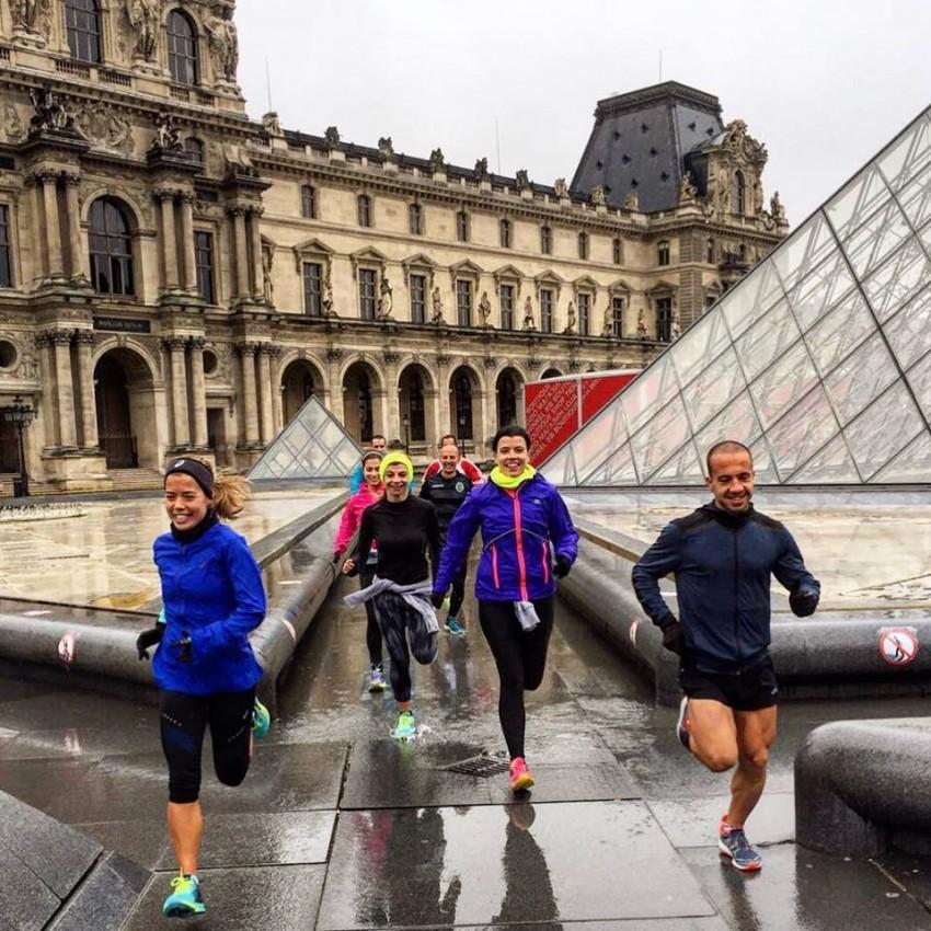 A apresentadora correu, no inicio de Março, na meia-maratona de Paris