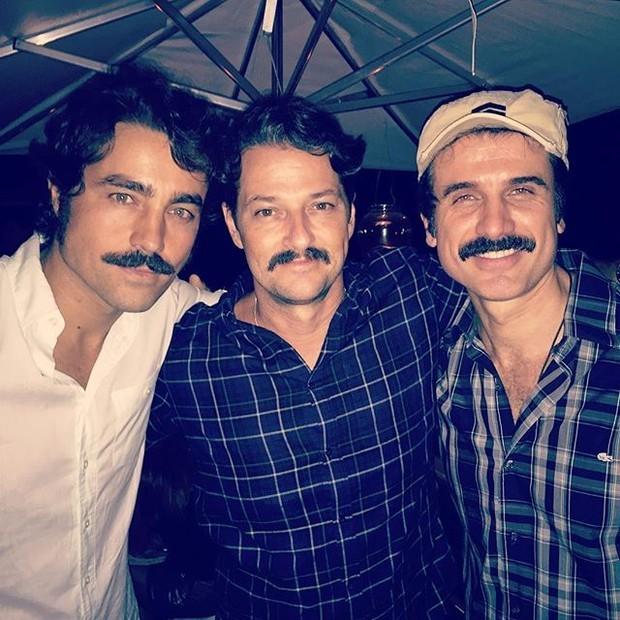 Ricardo Pereira, Marcelo Serrado e Eriberto Leão em festa no Rio
