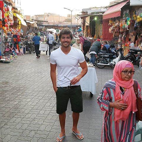 O ator já está em Marrocos