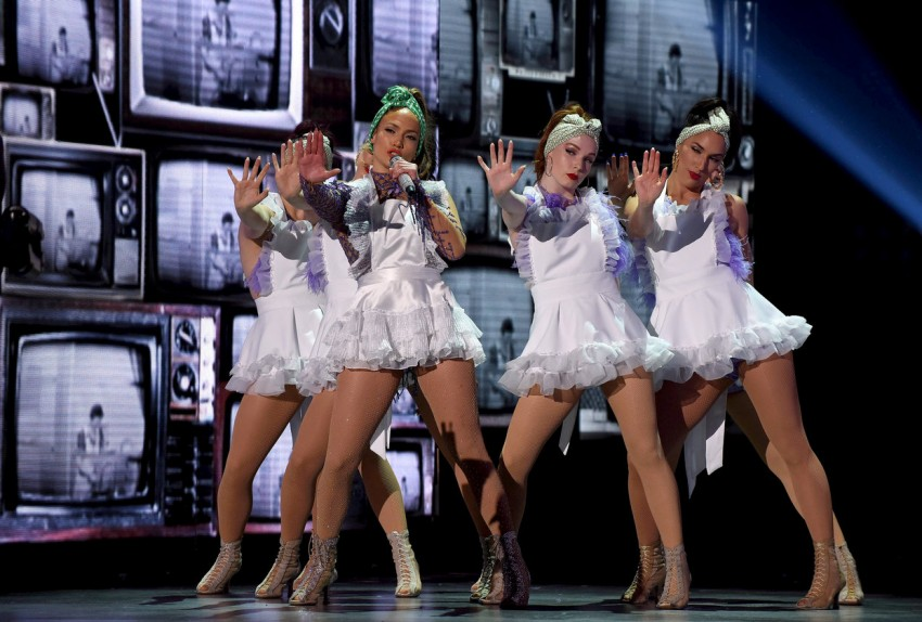 Jennifer Lopez durante uma das suas aparições