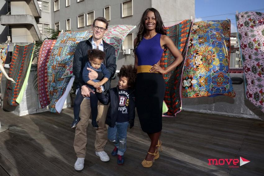 Weza e Luís Costa Branco com os filhos, Chloé e Kendi