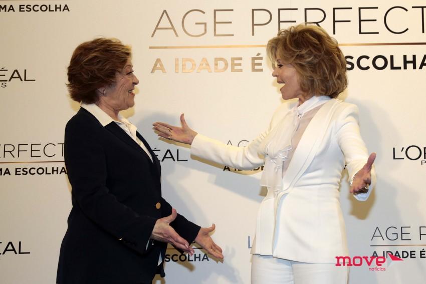 Simone de Oliveira e Jane Fonda