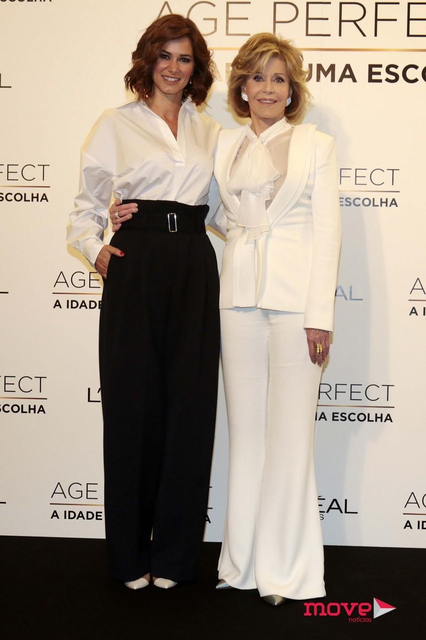 Cláudia Vieira e Jae Fonda, ambas embaixadoras da L'Oreal