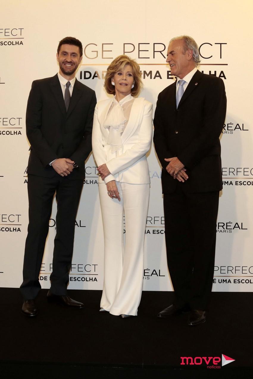 Daniel Oliveira, Jane Fonda e Manuel Pinto Coelho