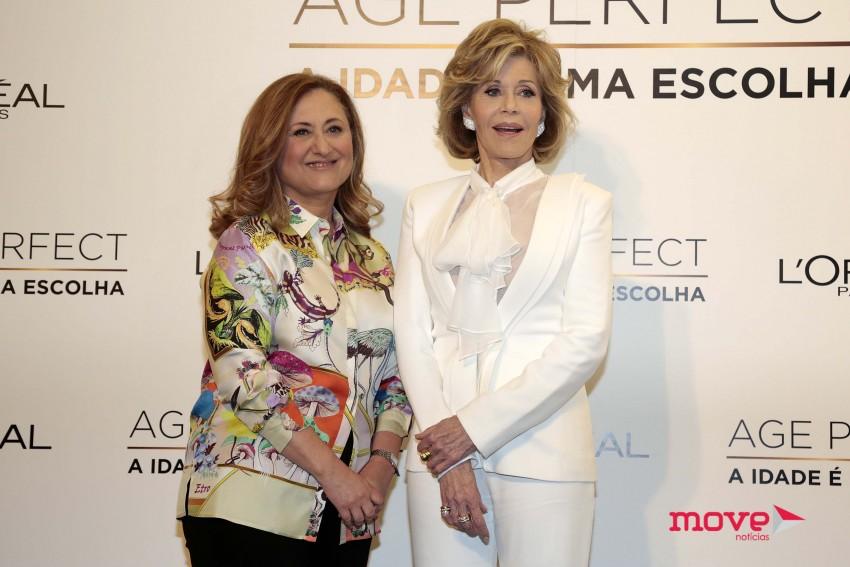 Maria Elisa e Jane Fonda