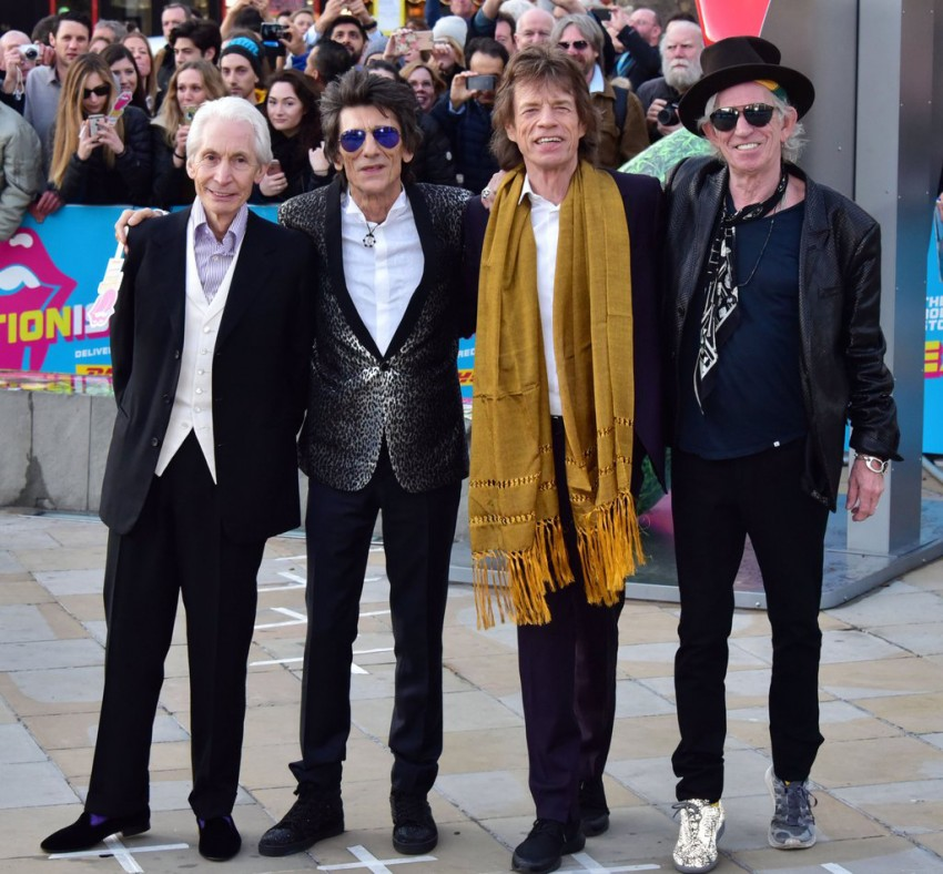 Charlie Watts, Keith Richards, Mick Jagger e Ronnie Wood