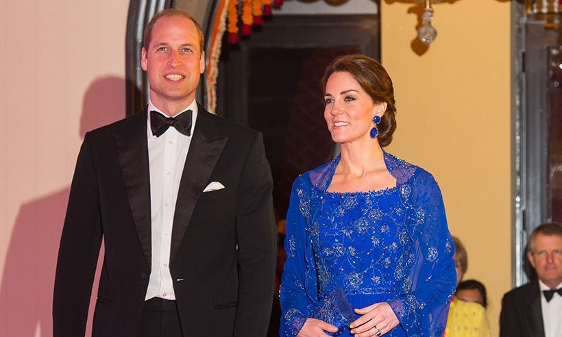 William e Kate à chegada à gala beneficente