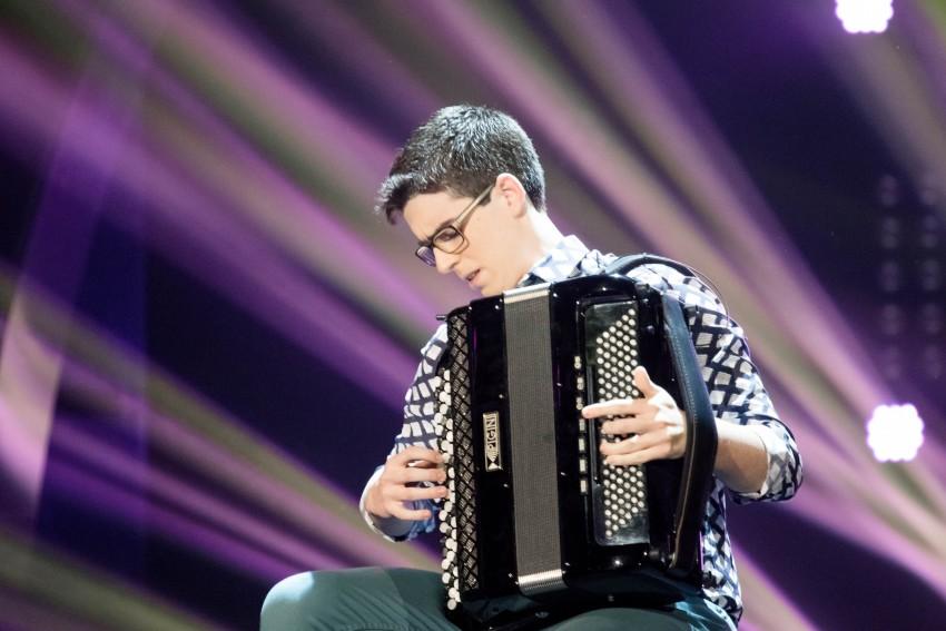 O acordeonista António Ledo