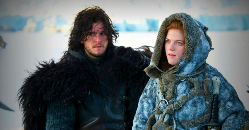 Kit Harington e Rose Leslie interpretam Jon Snow e Ygritte na série