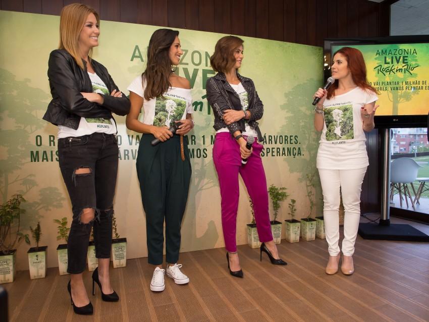 Vanessa Oliveira, Rita Pereira, Cláudia Vieira e Roberta Medina