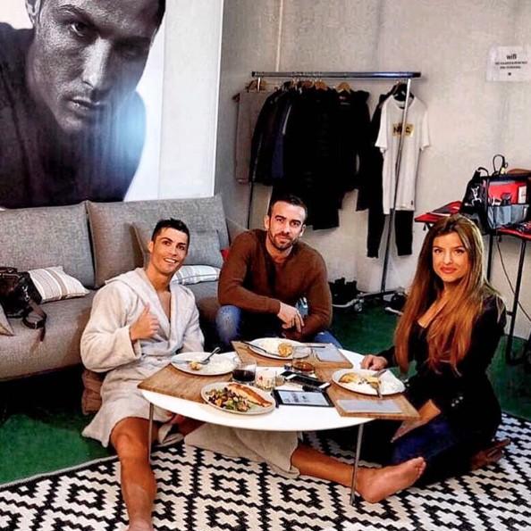Marisa com Cristiano Ronaldo
