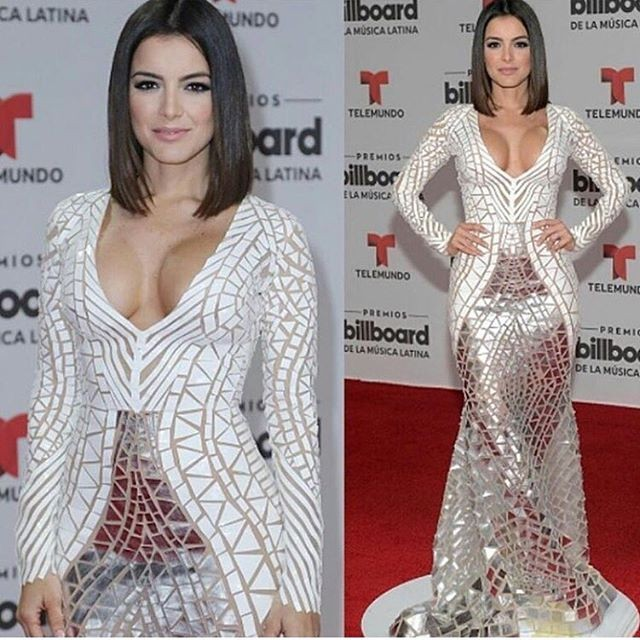 Daniela Navarro encantou com o seu belo vestido