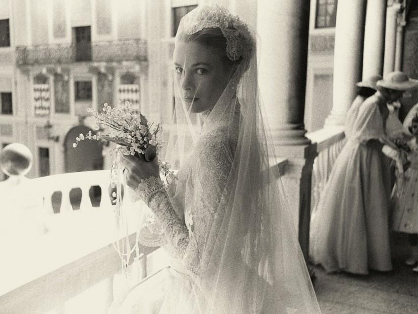 A princesa Grace no dia do casamento