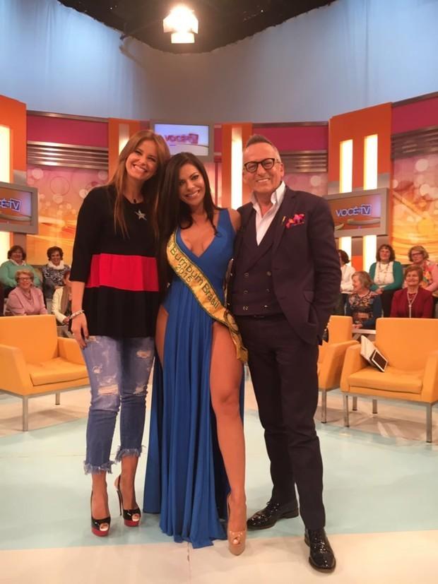 """Suzy no programa """"Você na TV"""", com Cristina e Manuel Luís Gouça"""