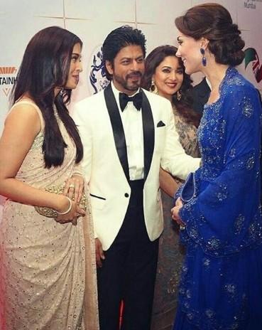 Aishwarya Rai e o ator Shah Rukh Khan com Kate