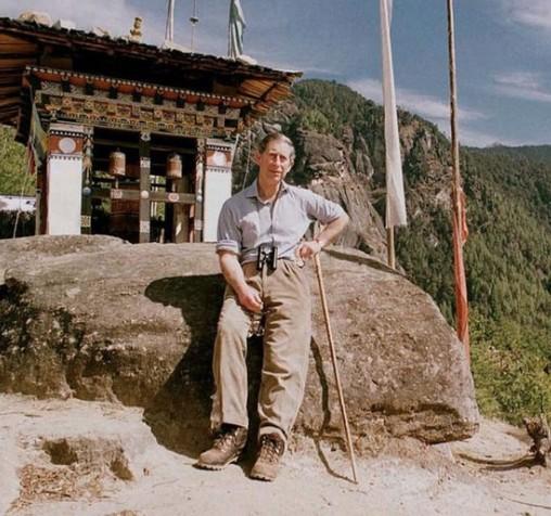 Em 1998, o príncipe Carlos fez a mesma caminhada