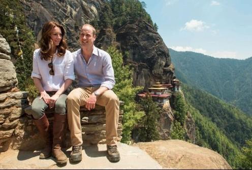 Durante a viagem ao Butão