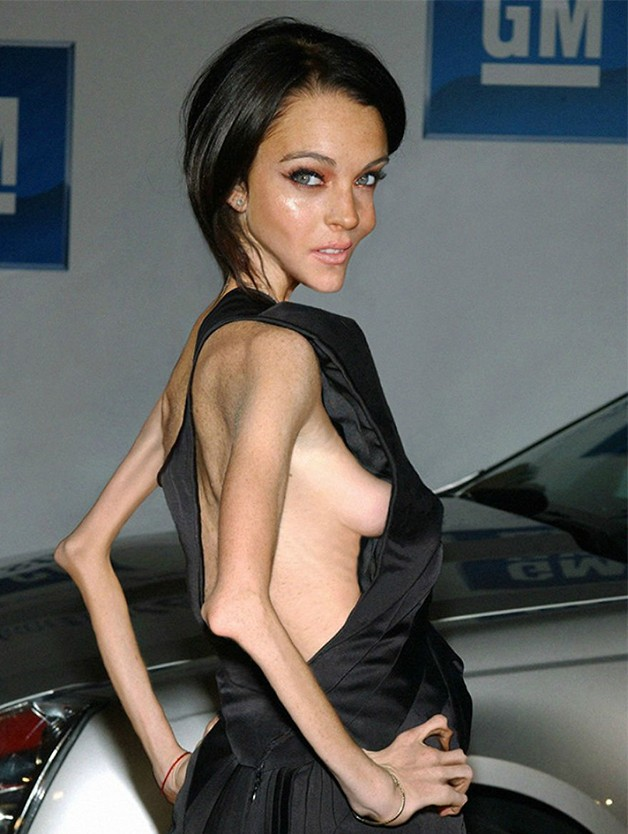 Lindsay Lohan, obra de Nilo no Freakingnews