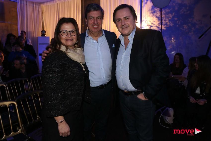 Paulo Vaz e mulher com Alfredo Resende