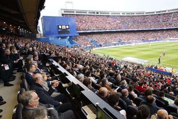 O estádio estava cheio