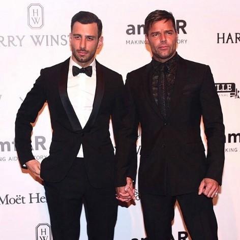 Ricky Martin com o namorado, Jwan Yosef