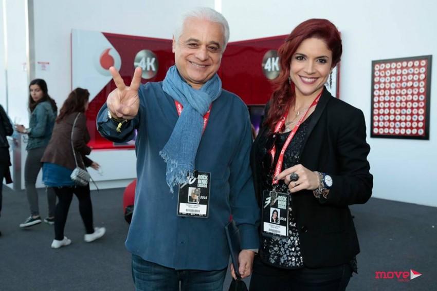 Roberta Medina com o pai, Roberto Medina, criador do Rock in Rio