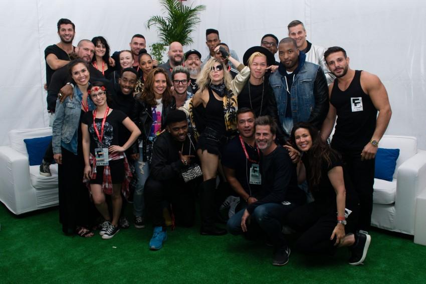 Fergie no backstage