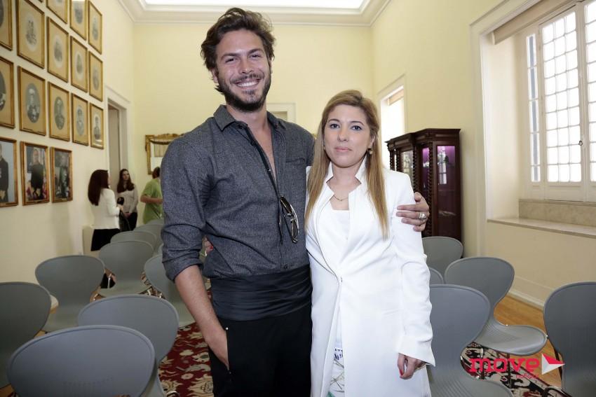 Zé Manel com a irmã, Patricia Cipriano, presidente da Associação Portuguesa de Crianças Desaparecidas
