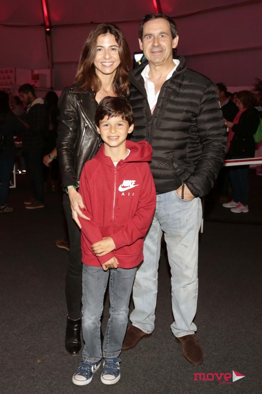 Rui Gomes da Silva com a mulher e o filho: Andreia e António