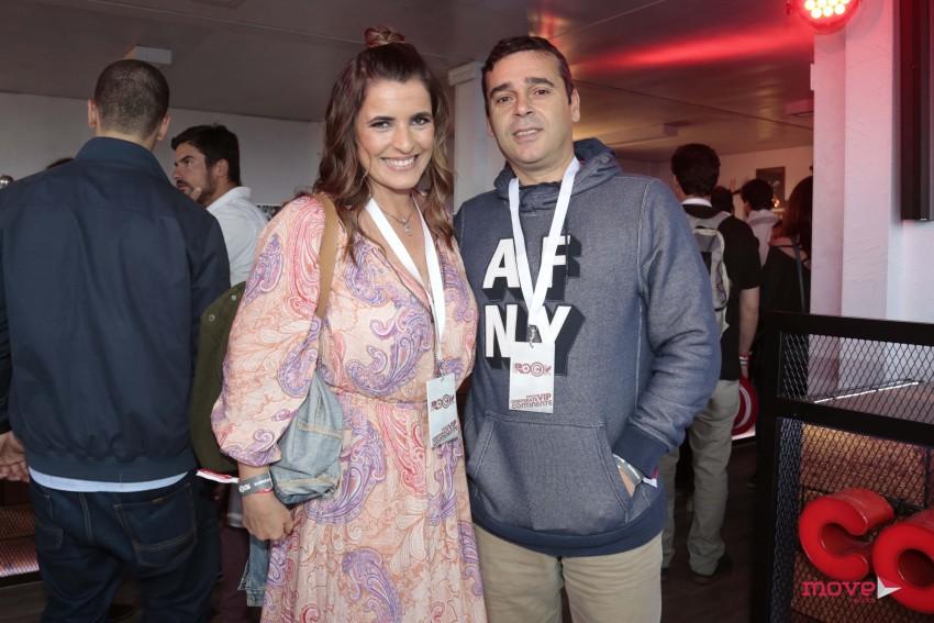 Sofia Fernandes com o marido