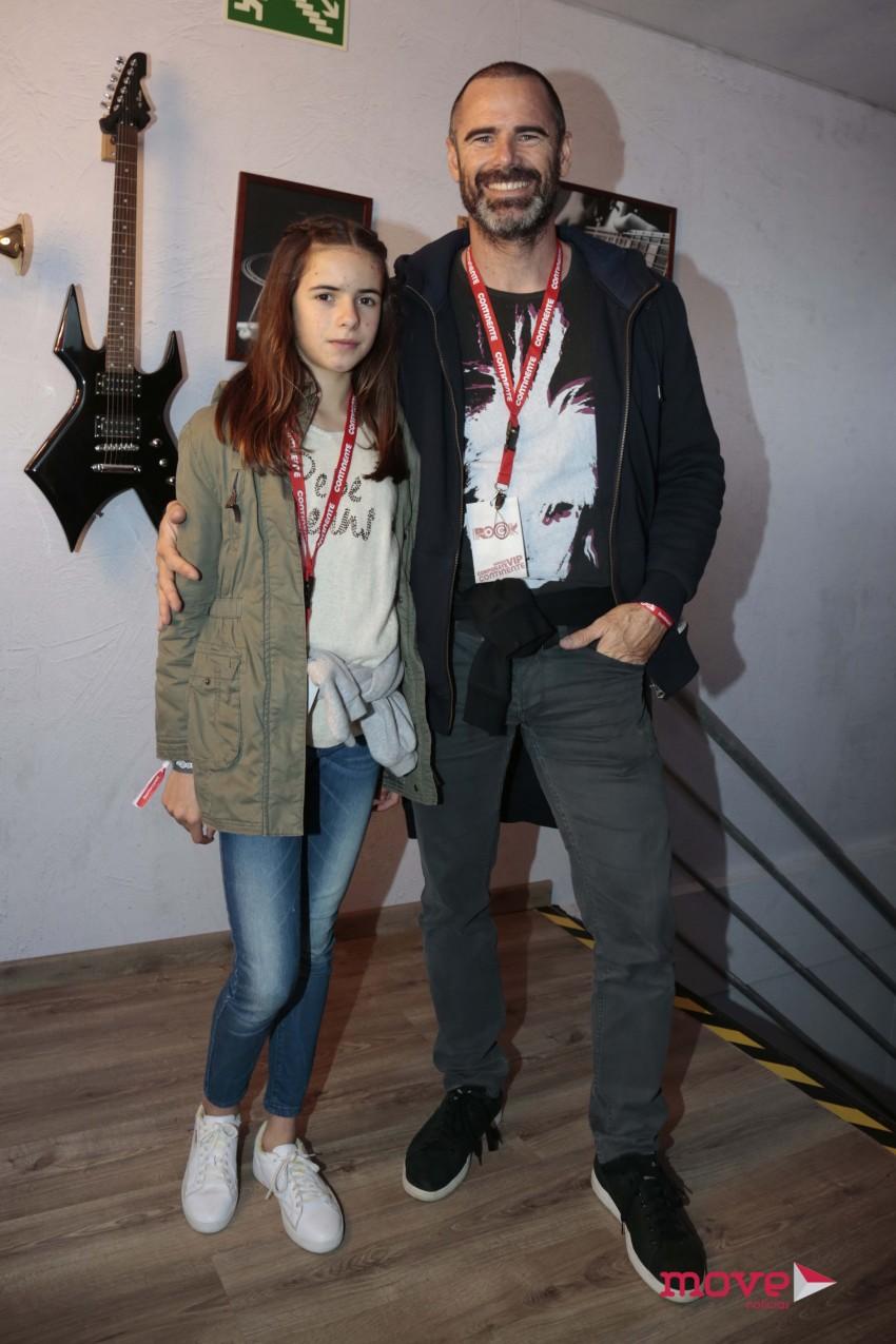 Pedro Lima com a filha, Emma