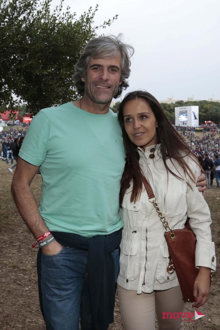 Mico da Câmara Pereira com a namorada, Raquel
