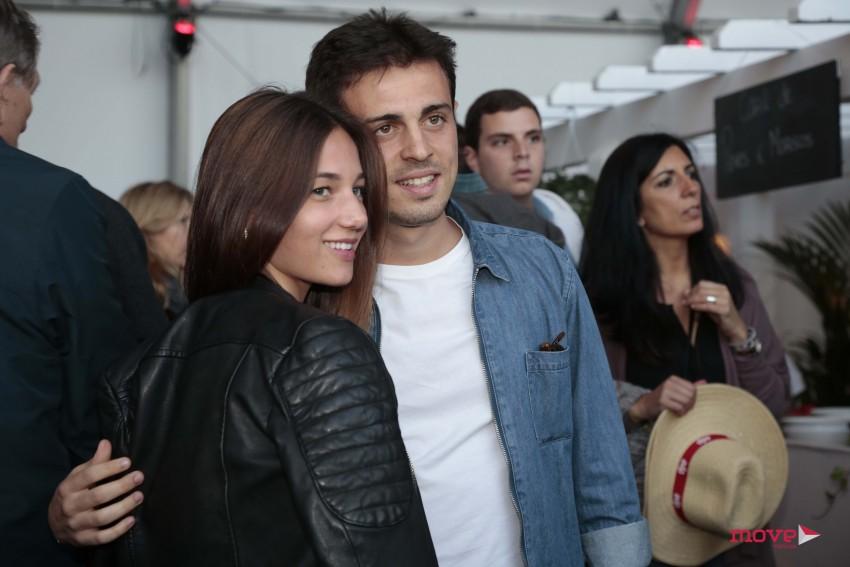 Bernardo Silva com a namorada