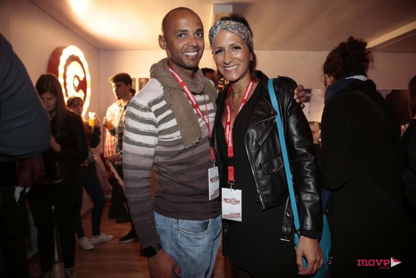 Joana Cardoso com o marido