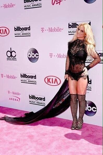 Britney Spears na passadeira vermelha