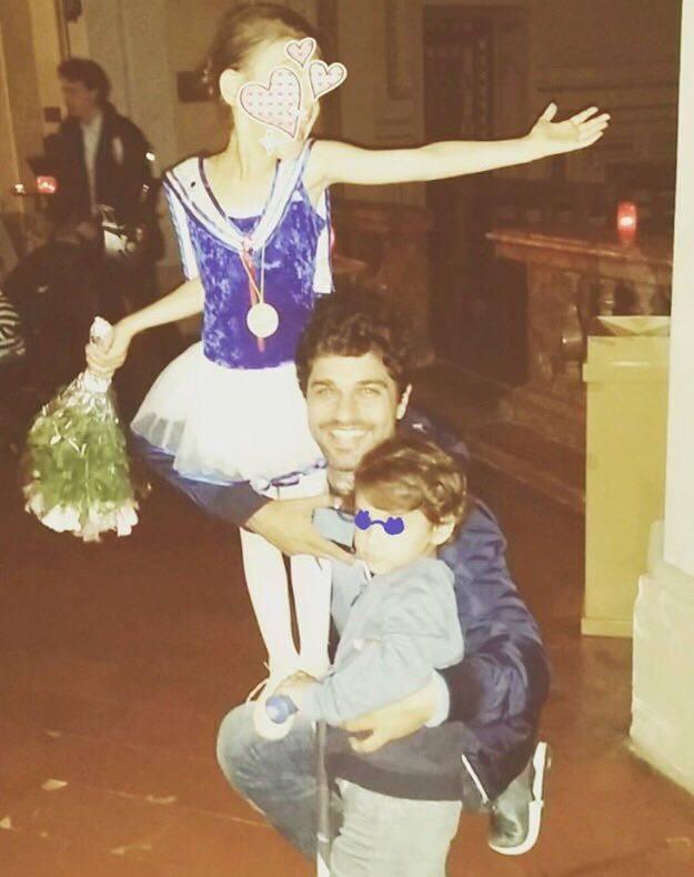 Bruno Cabrerizo e filhos