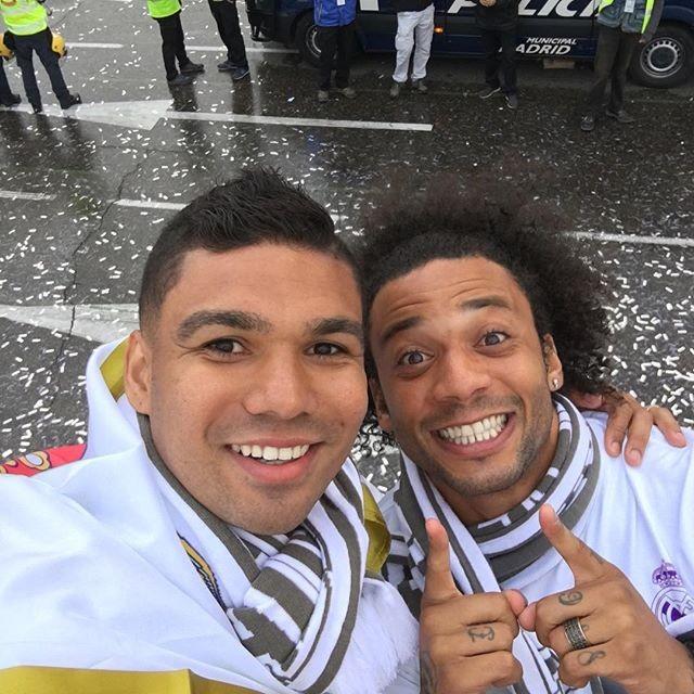 Casemiro e o compatriota Marcelo