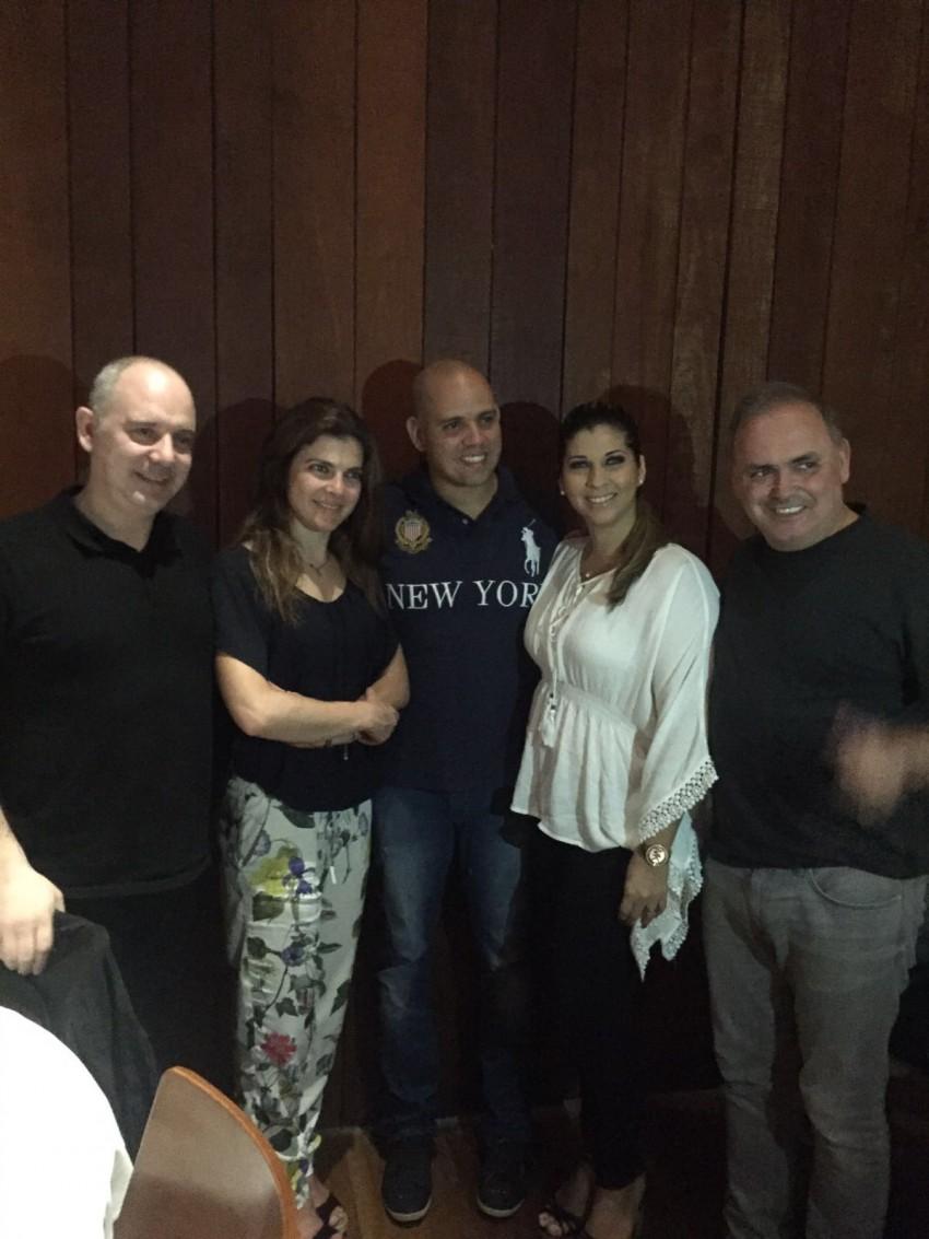 Chef Ivo Loureiro, Chef Lígia Santos, Chef Fabrício Lemos e a mulher Lisiane Arouca e António de Souza-Cardoso