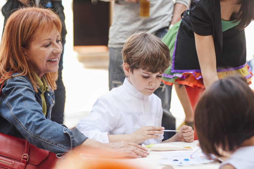 Isabel Medina com o neto
