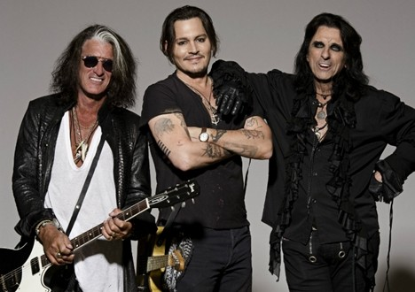 Joe Perry, Johny Depp e Alice Cooper