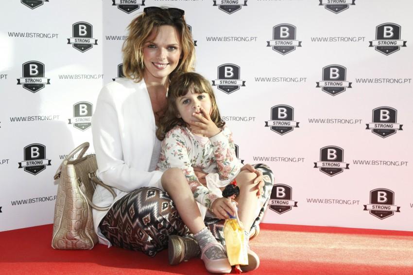 Joana Cancio com a filha