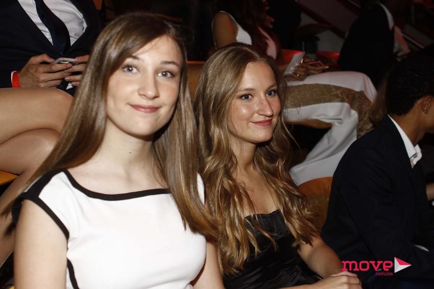 Catarina e Margarida Bakker, filhas de Alexandra Lencastre