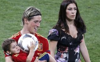 Olalla Domínguez Liste e o marido, o avançado do Atlético Fernando Torres