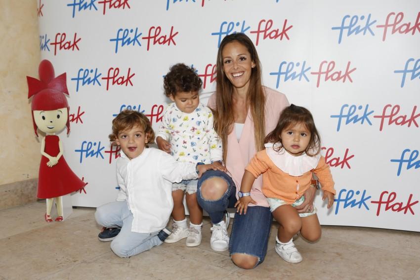 Mariana Patrocinio com os filhos e a sobrinha, Diana Uva