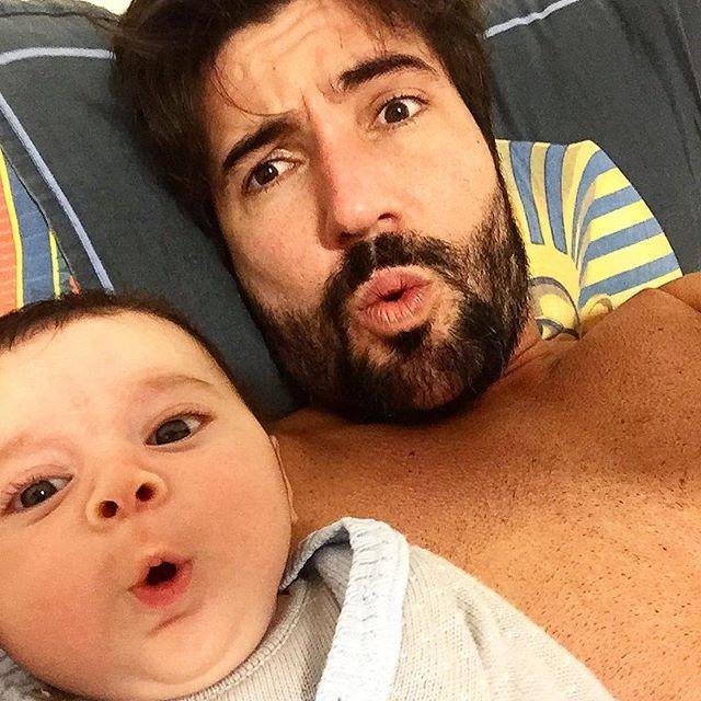 Sandro Pedroso com o filho Noah