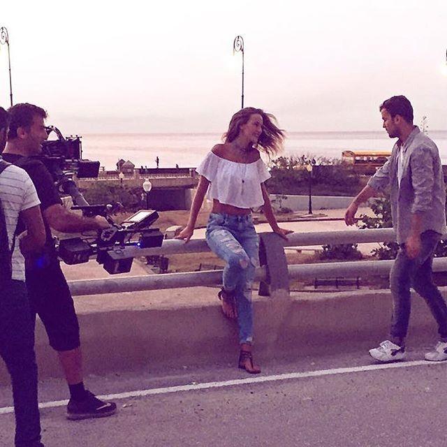 Jindrich mostrou os bastidores das gravações do novo videoclip de David Carreira