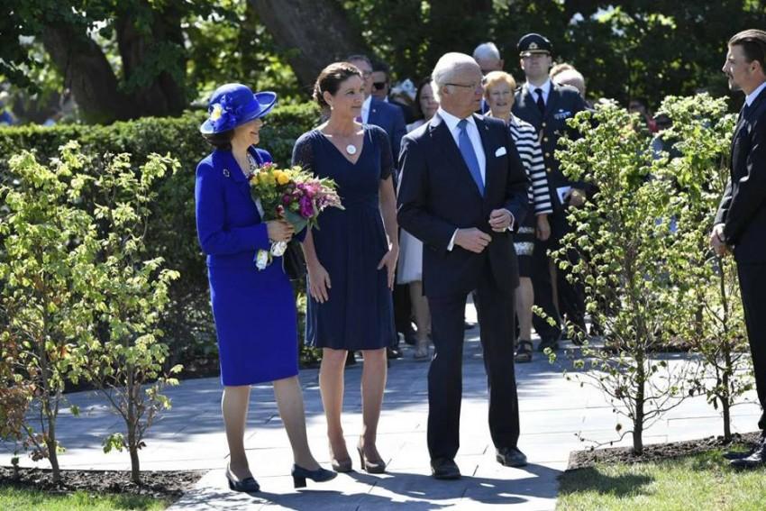 Rainha Sílvia com o Rei Carlos Gustavo