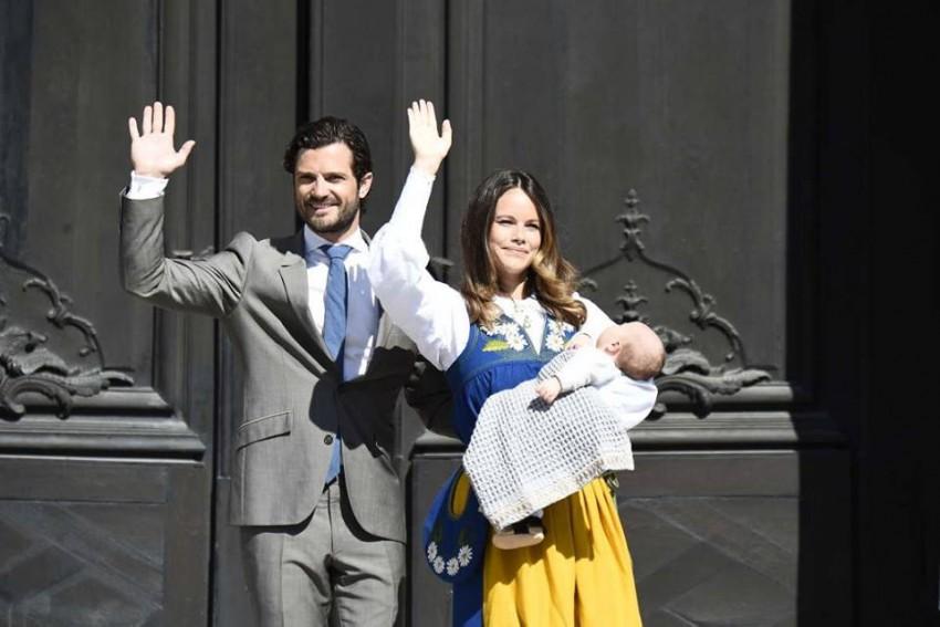 Carlos Filipe com Sofia e o filho, Alexander