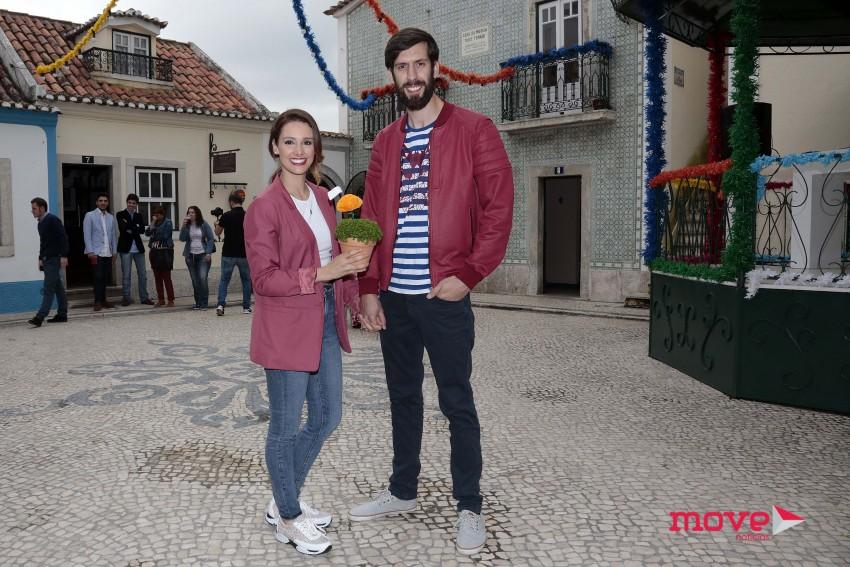 Marta Andrino e Frederico Amaral desfilam por Santa Engrácia