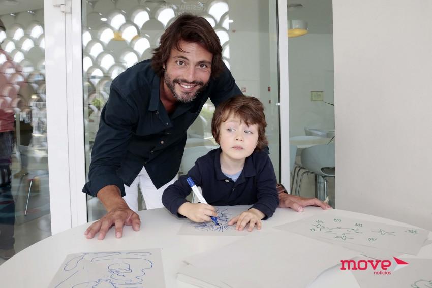 Rui Santos com o filho, Romeu